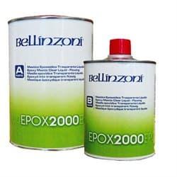 Эпоксидный клей жидкий Bellinzoni 2000 Premium Transparente A+B (прозрачный) 1,5кг - фото 10062