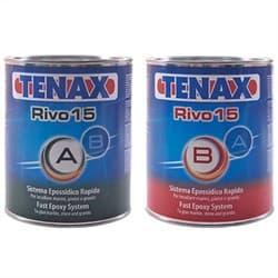 Клей эпоксидный Rivo-15 1+1л Nero PLUS (черный, густой) Tenax - фото 10091