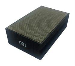 Алмазная губка шлифовальная прямая металлическая по мрамору №100 LEO - фото 10285