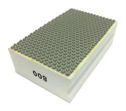 Алмазная губка шлифовальная прямая полимерная по мрамору №800 LEO - фото 10364