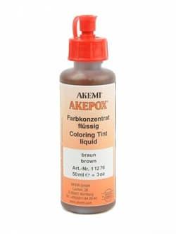 Краситель коричневый для эпоксидного клея Akepox жидкий 0,05л Akemi - фото 10808