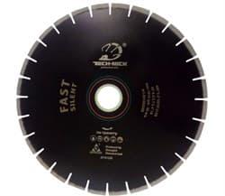 Диск отрезной по граниту (d. 350мм) сегментный для плиткореза TECH-NICK бесшумный Fast - фото 14650