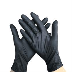 Перчатки одноразовые, винило-нитриловые, неопудренные, 100 шт, 50 пар (Черные) - фото 15750
