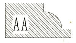 Фреза алмазная профильная AA-20 (#30/40) гранит/мрамор вакуумное спекание Diam-S - фото 4738