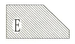 Фреза алмазная профильная E-20 (#30/40) гранит/мрамор вакуумное спекание Diam-S - фото 4749