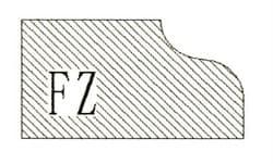Фреза алмазная профильная FZ-20 (#30/40) гранит/мрамор вакуумное спекание Diam-S - фото 4757