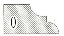 Фреза алмазная профильная O-20 (#30/40) гранит/мрамор вакуумное спекание Diam-S - фото 4787