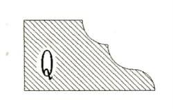Фреза алмазная профильная Q-20 (#30/40) гранит/мрамор вакуумное спекание Diam-S - фото 4791