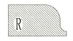 Фреза алмазная профильная R-20 (#30/40) гранит/мрамор вакуумное спекание Diam-S - фото 4795