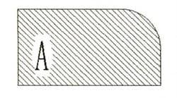 Фреза алмазная профильная A-20 (#30/40) гранит спечная Diam-S - фото 4805