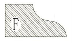 Фреза алмазная профильная F-20 (#30/40) гранит спечная Diam-S - фото 4822