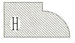 Фреза алмазная профильная H-20 (#30/40) гранит спечная Diam-S - фото 4828