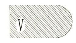 Фреза алмазная профильная V-20 (#30/40) гранит спечная Diam-S - фото 4852