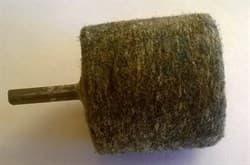 Войлок для полировки 50ммх45мм на дрель (цанга) 6 мм - фото 5613