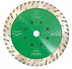Диск для болгарки по граниту (d. 125мм) турбо DIAM Grinder WG [М14] - фото 6242