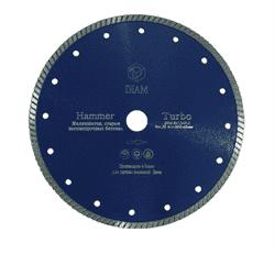 Алмазный диск для болгарки по бетону/железобетону (d. 125 мм) турбо DIAM Hammer [22,2 мм] - фото 6967