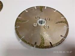 Диск DIAM-S Ø125 (фланец) по мрамору отрезной с гальваническим покрытием - фото 7442