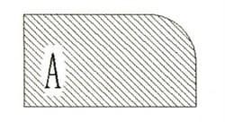 Фреза алмазная профильная А-20 (#70/80) гранит спечная сегментная Diam-S - фото 7545