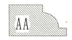 Фреза алмазная профильная АA-30 (#30/40) гранит спечная сегментная Diam-S - фото 7548