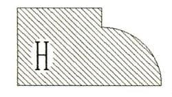 Фреза алмазная профильная H-20 (#30/40) гранит спечная сегментная Diam-S - фото 7556