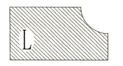 Фреза алмазная профильная L-20 (#30/40) гранит спечная сегментная Diam-S - фото 7559