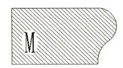 Фреза алмазная профильная M-20 (#30/40) гранит спечная сегментная Diam-S - фото 7561