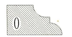 Фреза алмазная профильная О-20 (#30/40) гранит спечная сегментная Diam-S - фото 7563