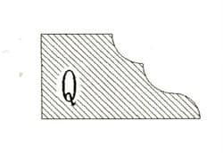 Фреза алмазная профильная Q-20 (#30/40) гранит спечная сегментная Diam-S - фото 7566