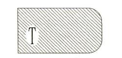 Фреза алмазная профильная Т-30 (#30/40) гранит спечная сегментная Diam-S - фото 7572