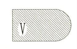 Фреза алмазная профильная V-20 (#30/40) гранит спечная сегментная Diam-S - фото 7573