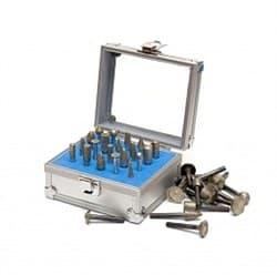 Комплект малых алмазных фрез DIS хвостовик 6 мм - 20 шт.  гальваника - фото 7671