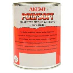 Клей полиэфирный кремообразный Akemi Polysoft (прозрачный с медовым оттенком) 1л (10481) - фото 8600