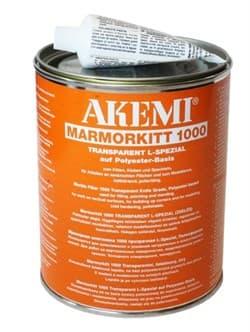Клей для натурального камня – полиэфирный, густой – Akemi 1000 L (медовый), 1 кг - фото 8764