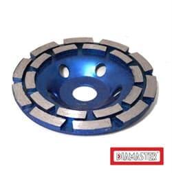 Алмазный шлифовальный круг (чашка) DIAMASTER COBRA Premium Ø 125мм двухрядный по бетону - фото 9275