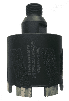 Сверло турбо-сегментное VSN Brazed (1/2/M14) Ø68 мм / h-50 мм | гранит/мрамор wet/dry - фото 9547