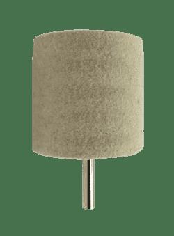 Войлок для полировки AHT Ø50х50мм на дрель (цанга) 6мм белый (цилиндр) - фото 9821
