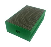 Губка шлифовальная прямая металлическая по мрамору №50 LEO