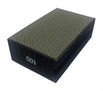 Губка шлифовальная прямая металлическая по мрамору №100 LEO