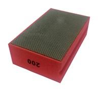 Губка шлифовальная прямая металлическая по мрамору №200 LEO