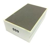 Губка шлифовальная прямая металлическая по мрамору №600 LEO