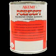 Клей полиэфирный Polysoft кремообразный AKEMI прозрачный с медовым оттенком, 0,8кг (10440)