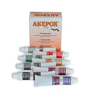 Краситель охра для эпоксидного клея Akepox пастообразный 0,03л Akemi