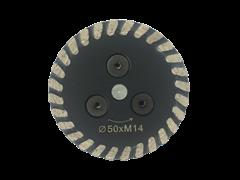 Алмазный диск для болгарки по граниту (d. 65 мм) турбо [М14]