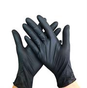 Перчатки одноразовые, винило-нитриловые, неопудренные, 100 шт, 50 пар (Черные)