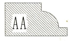 Фреза алмазная профильная AA-20 (#30/40) гранит/мрамор вакуумное спекание Diam-S