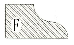 Фреза алмазная профильная F-30 (#30/40) гранит/мрамор вакуумное спекание Diam-S