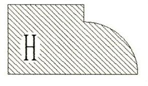Фреза алмазная профильная H-20 (#30/40) гранит/мрамор вакуумное спекание Diam-S