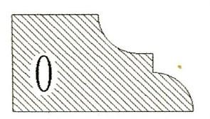 Фреза алмазная профильная O-20 (#30/40) гранит/мрамор вакуумное спекание Diam-S