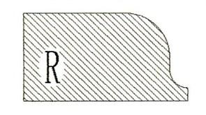 Фреза алмазная профильная R-20 (#30/40) гранит/мрамор вакуумное спекание Diam-S