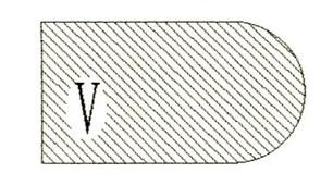 Фреза алмазная профильная V-20 (#30/40) гранит/мрамор вакуумное спекание Diam-S